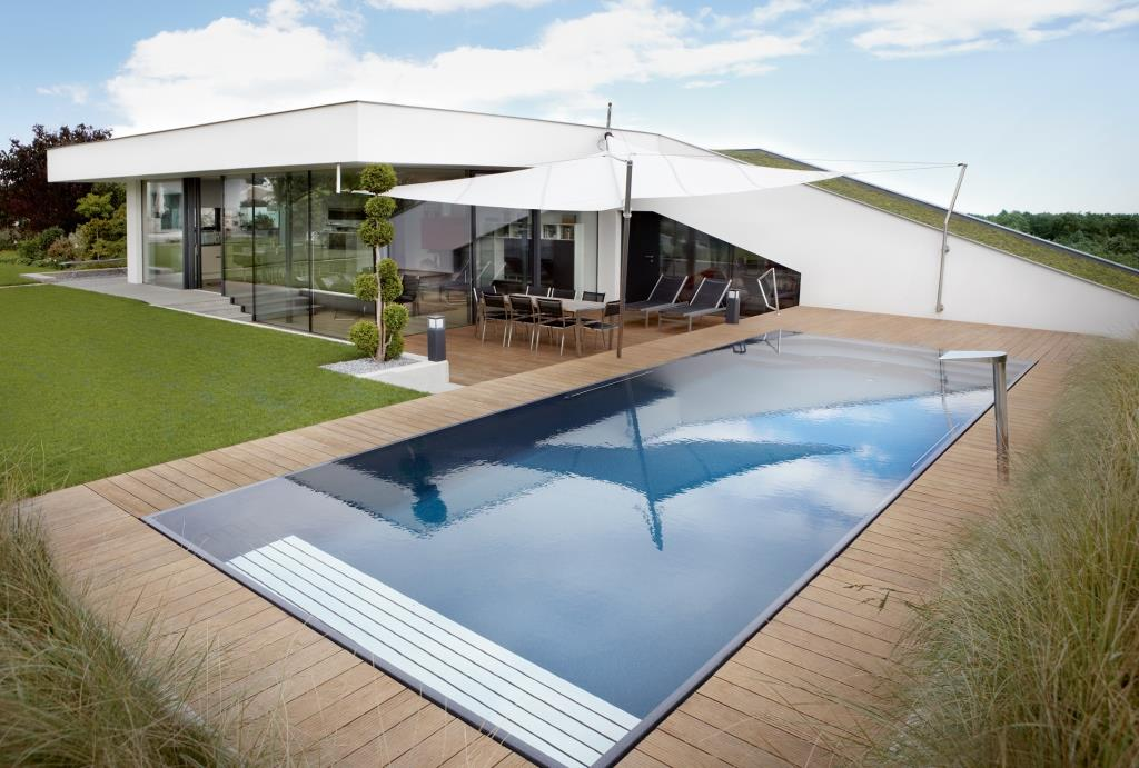 Living pools von living garden - Pooleinfassung rund ...