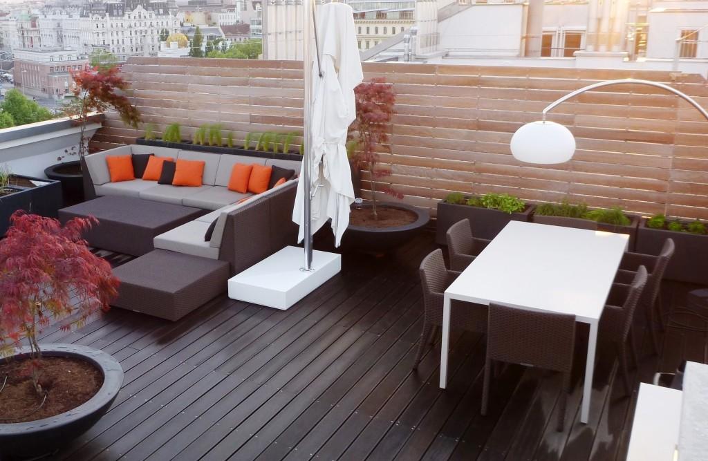 Terrassengestaltung von Living Garden in Wien 1.