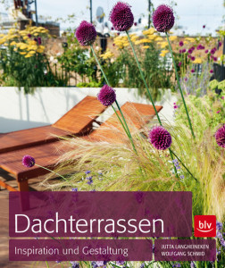 Das Bild zeigt den Buchumschlag von Dachterrassen Inspiration und Gestaltung.