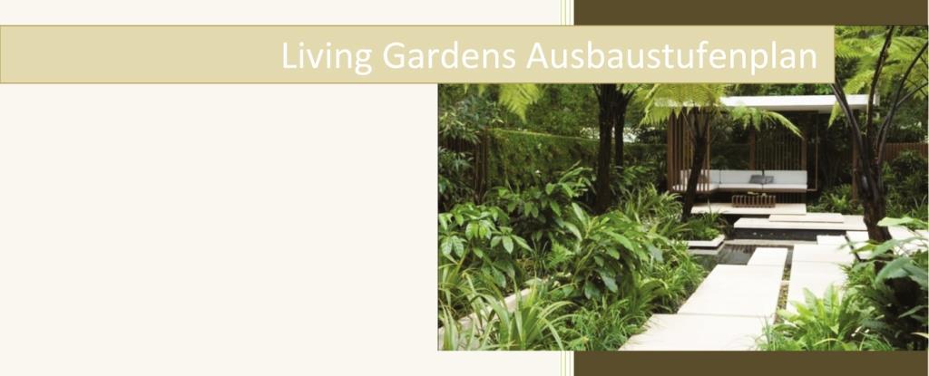 Der Ausbaustufenplan von Living Garden Gartengestaltung